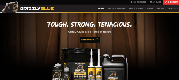 Grizzly Glue homepage