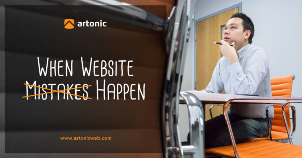 Where is your website support team when mistakes happen?