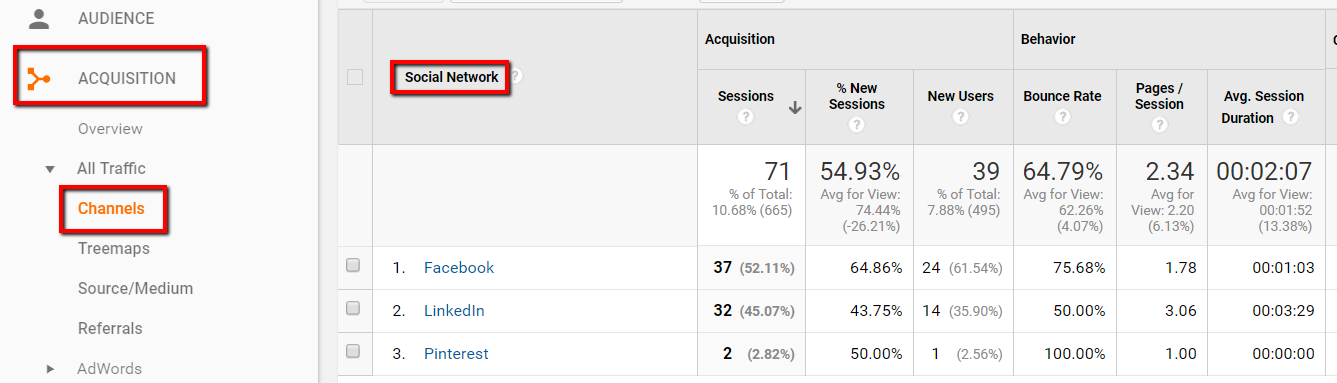 Get more traffic from your social media accounts and check it in analytics.