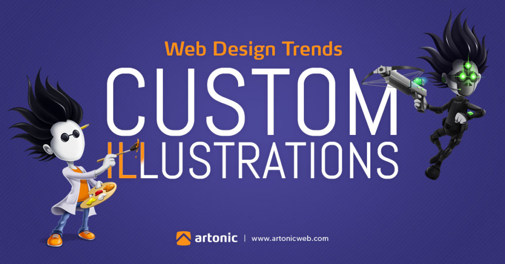 custom illustration in  web design