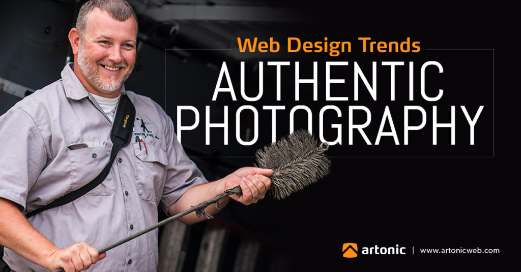 web design trend authentic photography