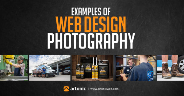 Examples of website design photography