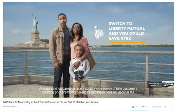 Pre-roll ad for Liberty Mutual.