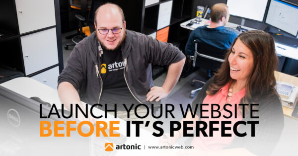 Angela and Andy working together at Artonic