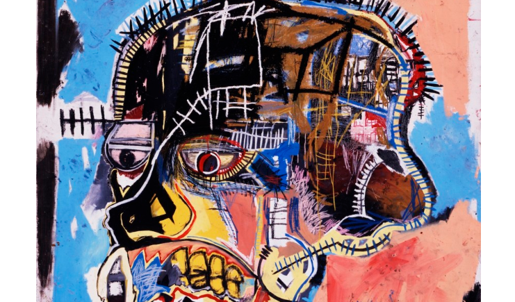 skull painting by basquiat