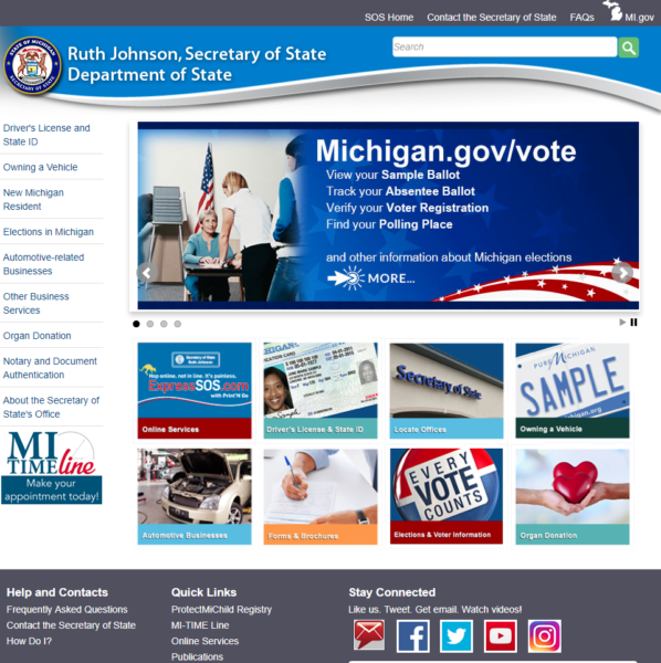 The office website of Michigan Secretary of State.