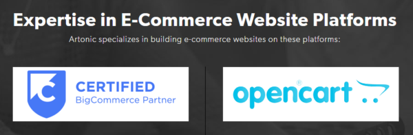 Am image of two types of e-commerce website platforms.